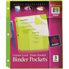 "Avery® Corner Lock Binder Pockets - 20 x Page Capacity - For Letter 8 1/2"" x 11"" Sheet - 3 x Holes - Ring Binder - Rectangular - Blue, Green, Pink"