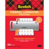 "Scotch Thermal Laminating Pouches - Laminating Pouch/Sheet Size: 9"" Width x 11.50"" Length x 3 mil Thickness - Glossy - for Document, Photo, Schedule,"