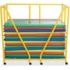 """Children's Factory Rest Mat Storage Trolley - 8 Casters - Acrylonitrile Butadiene Styrene (ABS) - 51"""" Length x 27"""" Depth x 48"""" Height - Yellow - 1 / E"""