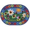 "Carpets for Kids Ladybug Circletime Rug - 113"" Length x 81"" Width - Oval"