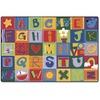 "Carpets for Kids Toddler Alphabet Blocks Rug - 72"" Length x 48"" Width - Rectangle"