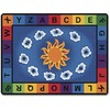 "Carpets for Kids Sunny Day Learn/Play Rectangle Rug - 100"" Length x 70"" Width - Rectangle"