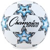 "Champion Sports Viper Soccer Ball Size 5 - 8.75"" - Size 5 - Thermoplastic Polyurethane (TPU) - Blue, Black, White"