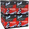 "Scott Original Shop Towels - Towel - 10"" Width x 13"" Length - 200 / Box - 8 / Carton - Blue"