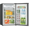 Lorell 3.2 cubic foot Compact Refrigerator - 3.20 ft³ - Manual Defrost - Reversible - 3.20 ft³ Net Refrigerator Capacity - Black - Steel, Fiberglass,