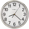 Howard Miller Hamilton Wall Clock - Analog - Quartz - White Main Dial - Silver/Plastic Case - Polished Silver Finish