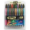 Pilot G2 20-pack Retractable Gel Ink Pens - Fine Pen Point - 0.7 mm Pen Point Size - Refillable - RetractableGel-based Ink - 20 / Pack