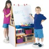 Jonti-Craft Rainbow Accents 2 Station Art Center - Gray Surface - Floor Standing - Assembly Required - 1 Each