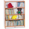 "Jonti-Craft Rainbow Accents 48"" Bookcase - 48"" Height x 36.5"" Width x 11.5"" Depth - Laminated, Rounded Corner, Chip Resistant, Adjustable Shelf - Oran"