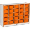 "Jonti-Craft Rainbow Accents Cubbie-trays Storage Unit - 25 Compartment(s) - 35.5"" Height x 48"" Width x 15"" Depth - Orange - Rubber - 1Each"