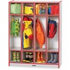 "Jonti-Craft Rainbow Accents 4 Section Coat Locker - 4 Compartment(s) - 50.5"" Height x 39"" Width x 15"" Depth - Durable, Laminated - Red - 1 Each"