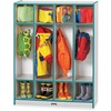 "Jonti-Craft Rainbow Accents 4 Section Coat Locker - 4 Compartment(s) - 50.5"" Height x 39"" Width x 15"" Depth - Laminated, Durable - Teal - 1 Each"