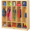 "Jonti-Craft Rainbow Accents 5 Section Coat Locker - 5 Compartment(s) - 50.5"" Height x 48"" Width x 15"" Depth - Double Hook, Durable, Rounded Corner, Ye"