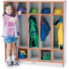 "Jonti-Craft Rainbow Accents 5-section Coat Locker - 5 Compartment(s) - 50.5"" Height x 48"" Width x 15"" Depth - Orange - 1Each"