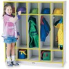 "Jonti-Craft Rainbow Accents 5-section Coat Locker - 5 Compartment(s) - 50.5"" Height x 48"" Width x 15"" Depth - Double Hook, Durable, Laminated, Rounded"