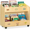 "Jonti-Craft Mobile Section Book Storage Organizer - 6 Compartment(s) - 29.5"" Height x 36"" Width x 16"" Depth - Durable - Baltic - Acrylic - 1 Each"