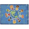 "Carpets for Kids Give The Planet A Hug Rug - 65"" Length x 46"" Width - Rectangle"