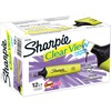 Sharpie Clear View Highlighter - Thin, Thick Marker Point - Chisel Marker Point Style - Fluorescent Yellow - 12 / Dozen