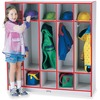 """Jonti-Craft Rainbow Accents 5-section Coat Locker - 5 Compartment(s) - 50.5"""" Height x 48"""" Width x 15"""" Depth - Red - 1Each"""