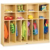 "Jonti-Craft Rainbow Accents Large Neat-n-Trim Locker - 8 Compartment(s) - 50.5"" Height x 60"" Width x 15"" Depth - Durable, Hanging Hook, Rounded Corner"