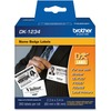 "Brother DK1234 - Adhesive Name Badge Labels - 2.36"" Width x 3.39"" Length - Rectangle - Direct Thermal - White - Paper - 260 / Roll"