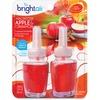 Bright Air Scented Oil Warmer Air Freshener Refill - Oil - Macintosh Apple, Cinnamon - 45 Day - 2 / Pack - Long Lasting