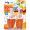 Bright Air Scented Oil Warmer Air Freshener Refill - Oil - Hawaiian Blossom, Papaya - 45 Day - 2 / Pack - Long Lasting
