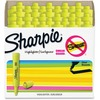 Sharpie SmearGuard Tank Style Highlighters - Narrow, Wide Marker Point - Chisel Marker Point Style - Fluorescent Yellow - 36 / Pack