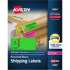 """Avery® 2""""x 4"""" Neon Shipping Labels with Sure Feed, 1,000 Labels (5964) - Permanent Adhesive - 2"""" Height x 4"""" Width - Rectangle - Laser - Neon Mage"""