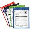 C-Line Super Heavyweight Plus Shop Ticket Holder, Stitched - Both Sides Clear, Assorted Colors, 9 x 12, 20/BX, 50920