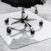 "Cleartex Glaciermat Glass Chair Mat - Hard Floor, Home, Office, Carpet - 48"" Length x 36"" Width - Rectangle - Glass - Clear"