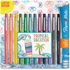 Paper Mate Flair Medium Point Porous Markers - Medium Pen Point - Assorted Water Based Ink - Felt Tip - 12 / Pack