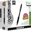 Zebra Pen Z-Grip Retractable Ballpoint Pens - Medium Pen Point - 1 mm Pen Point Size - Retractable - Black - Clear Plastic Barrel - 48 / Pack
