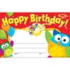 "Trend Happy Birthday Owl-Stars Recognition Awards - ""Happy Birthday"" - 8.50"" x 5.50"" - Multicolor - 30 / Pack"