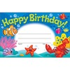 "Trend Happy Birthday Sea Buddies Awards - ""Happy Birthday"" - 8.50"" x 5.50"" - Multicolor - 30 / Pack"