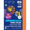 "Tru-Ray Construction Paper - Art Project - 12"" x 9"" - 50 / Pack - Electric Orange - Sulphite"