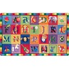 "Flagship Carpets ABC Blocks Alphabet Rug - 12 ft Length x 90"" Width - Multicolor - Nylon"