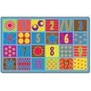 "Flagship Carpets Counting Fun 24-seat Rug - 12 ft Length x 90"" Width - Multicolor"