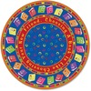 "Flagship Carpets Bright CircleTime Books Round Rug - 72"" Diameter - Circle - Multicolor"