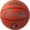 "Champion Sports Intermediate Rubber Basketball Orange - 28.50"" - 6 - Rubber, Nylon - Orange"