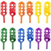 Champion Sports Scoop Ball Set - Plastic - Red, Orange, Yellow, Green, Blue, Purple - 6 / Set
