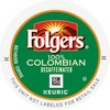 Folgers® 100% Colombian Decaf K-Cup - Compatible with Keurig Brewer - Decaffeinated - Lively Colombian - Medium - 24 / Box