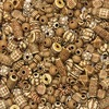 Creativity Street Mixed Bone Beads - Project, Craft - Recommended For 3 Year - 1 Pack - Assorted
