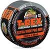 """T-REX Ferociously Strong Tape - 30 yd Length x 2.83"""" Width - Polyethylene, Cloth - 1 Roll - Silver"""