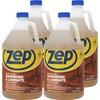 Zep Hardwood & Laminate Floor Cleaner - Liquid - 128 fl oz (4 quart) - 4 / Carton - Brown