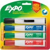 Expo Eraser Cap Magnetic Dry Erase Marker Set - Medium, Fine, Broad Marker Point - Chisel Marker Point Style - Assorted - 4 / Pack