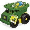 Mega Bloks John Deere Dump Truck - Branded Truck with Tilting Bin and Big Wheels - An Amazing Value of 20 Big Blocks