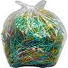 """Dahle 11-19 Gallon Shredder Waste Bin Bags - 19 gal - 30"""" Height x 16"""" Width x 14"""" Depth - 100/Carton - Plastic - Clear"""
