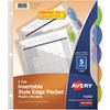 "Avery® Avery(R) 5-Tab Insertable Style Edge Dividers with Pockets. 1 Set (11292) - 5 - 5 Tab(s)/Set - 9.3"" Divider Width x 11.25"" Divider Length -"