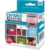 """Dymo LabelWriter Labels - Permanent Adhesive - 1"""" Width x 2 1/8"""" Length - Thermal Transfer - White - Plastic, Polypropylene - 160 / Roll - 160 / Roll"""
